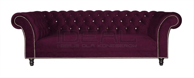 Sofy Stylowe - Sofa Chesterfield Kent - Ideal Meble Chesterfield Sofas, Armchairs, Sectionals, Sleepers | Leather, Fabric, Linen | red, purple, czerwona, bordowa