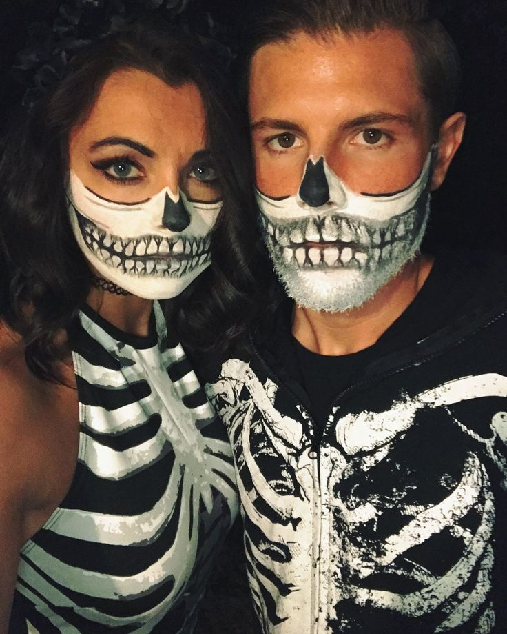 Halloween couples costume skeleton makeup halloween pinterest maquillage halloween - Maquillage halloween couple ...