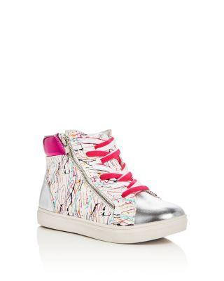 Steve Madden Girls' Splash High Top Sneakers - Little Kid, Big Kid | Bloomingdale's