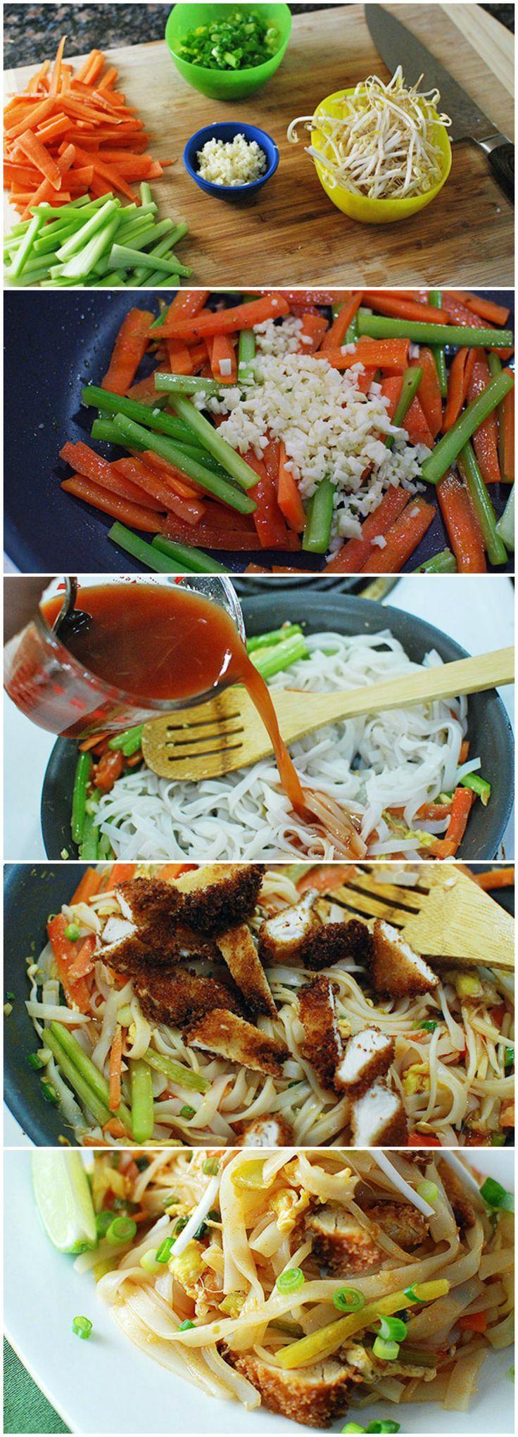 Buffalo Chicken Pad Thai Recipe