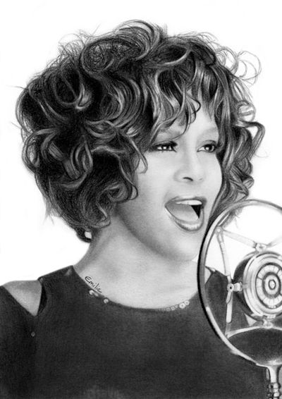 Whitney Houston by emilie-creations on DeviantArt