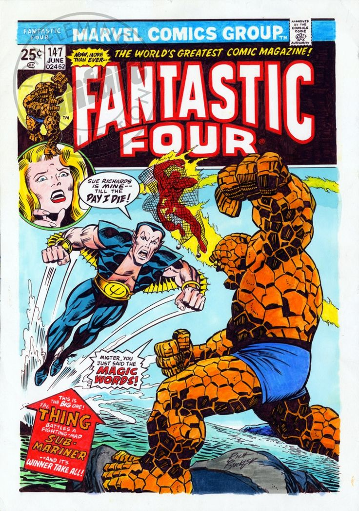 Rich Buckler Fantastic Four #147, Cover Recreation (after Kirby)