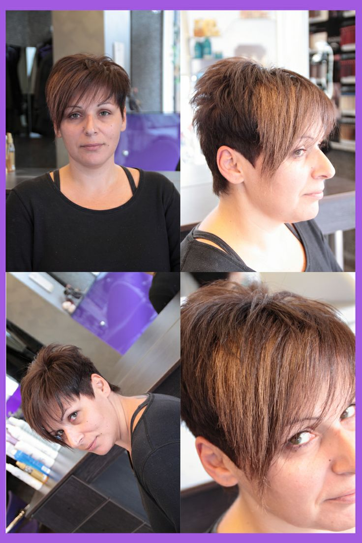 Κοντο κουρεμα με μακρια φραντζα / Short haircut with long fringe