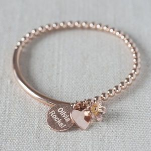 Personalised Rose Gold Filled Bracelet - jewellery for women