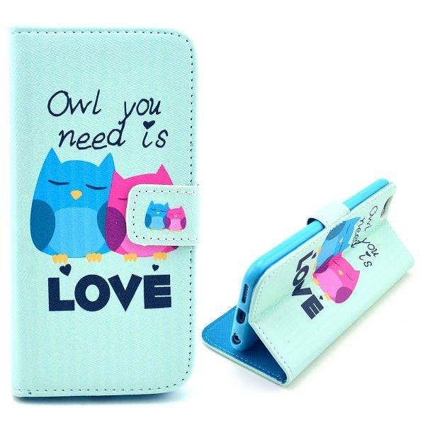 Owl you need is Love bookcase hoes voor iPhone 6 Plus