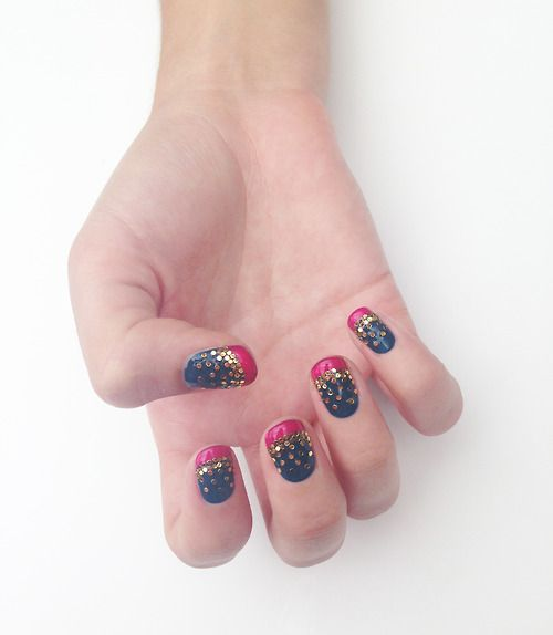 """@asos.com Beauty Flash: Christmas Party Nails by Sophie Harris-Greenslade at The Illustrated Nail. """"This Christmas season, go big or go home, y..."""