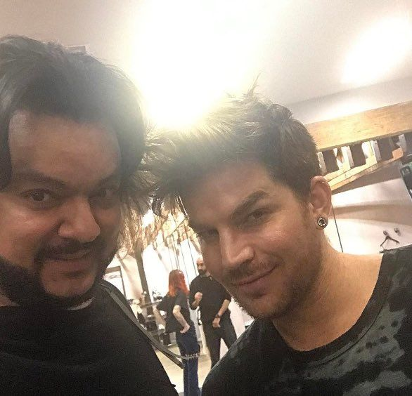 2017..Adam was shopping at H Lorenzo and took a pic with Kirkorov.  Kirkorov is a famous Russian singer
