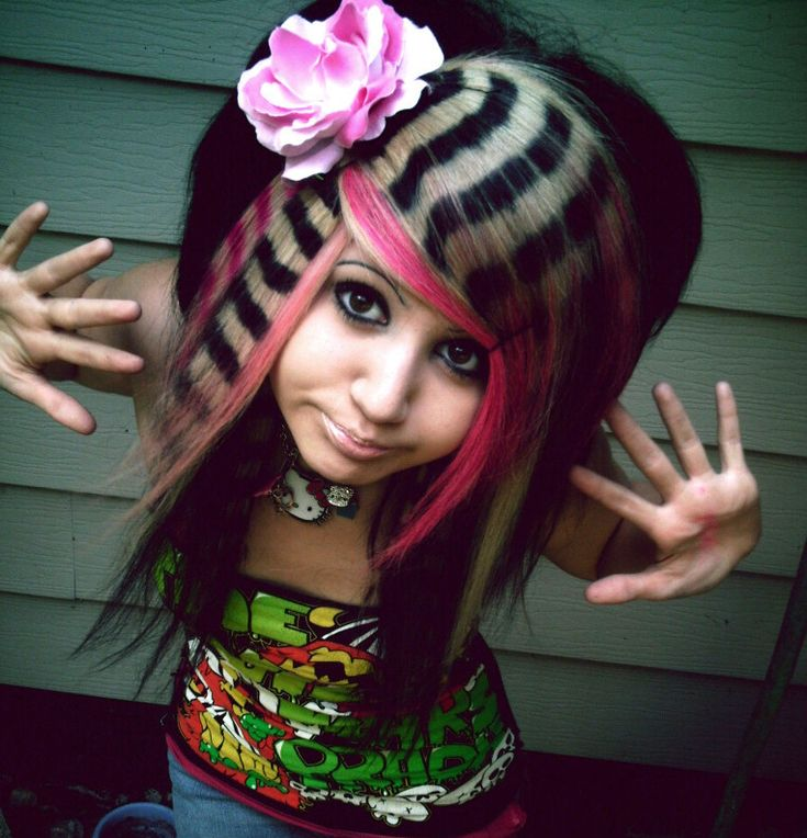 Stripes!: Crazy Hair, Girls, Hairstyles, Hair Styles, Makeup, Beauty, Hair Color, Scene Hair