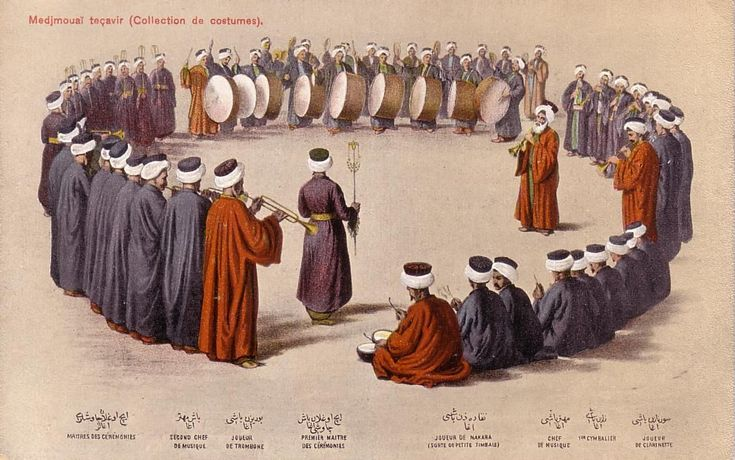 """Ottoman Turkey, Costumes, Medjmouaï Teçavir (1910s) Fruchtermann No. 125. Max Fruchtermann, 1852-1918. The most prominent early publisher of Ottoman postcards, at the age of seventeen he opened a frame-shop at Yüksekkaldirim Istanbul. It is hard to underestimate his role in the publishing scene that followed. He was one of the first """"editeurs"""" (if not the very first) to create postcards depicting the Ottoman Empire."""
