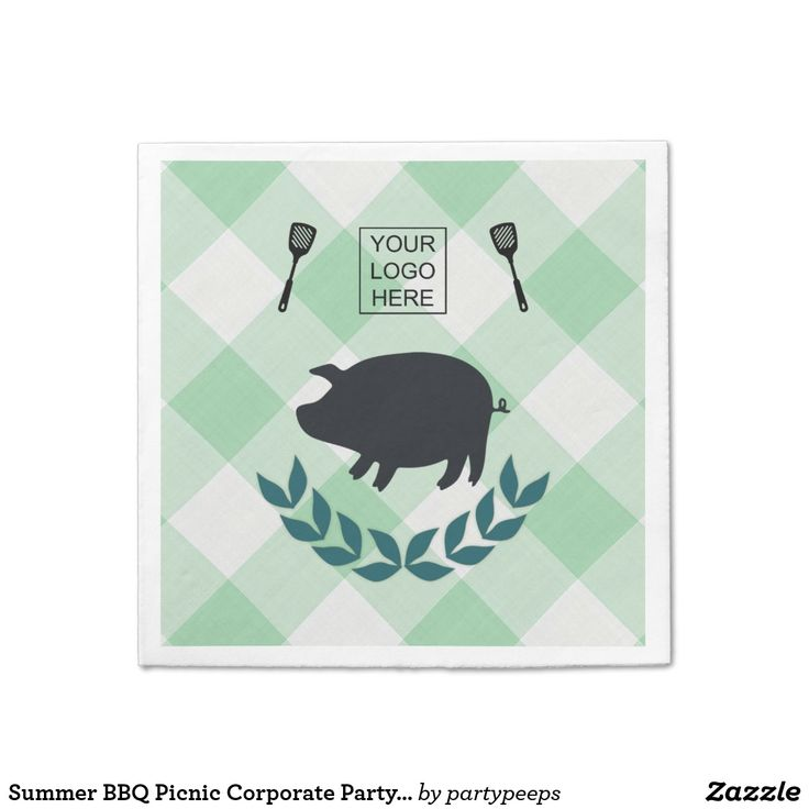 Summer BBQ Picnic Corporate Party Customizable Paper Napkin