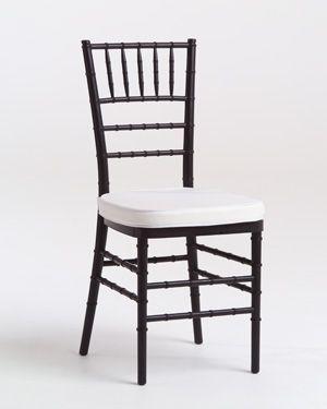 Black Tiffany Chair with White Cushion