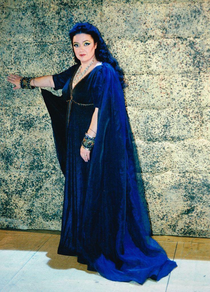 Markella Hatziano as Amneris in Giuseppe Verdi's opera Aida