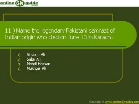 All general knowledge questions are related to the major events happened in the month of June 2012.