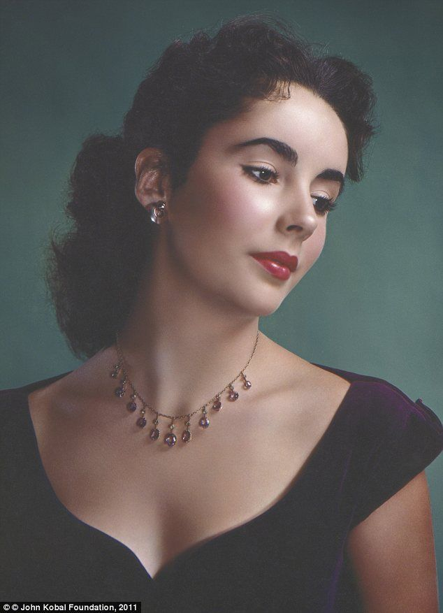 The luminous beauty of Elizabeth Taylor, in a 1948 portrait by Clarence Sinclair Bull.