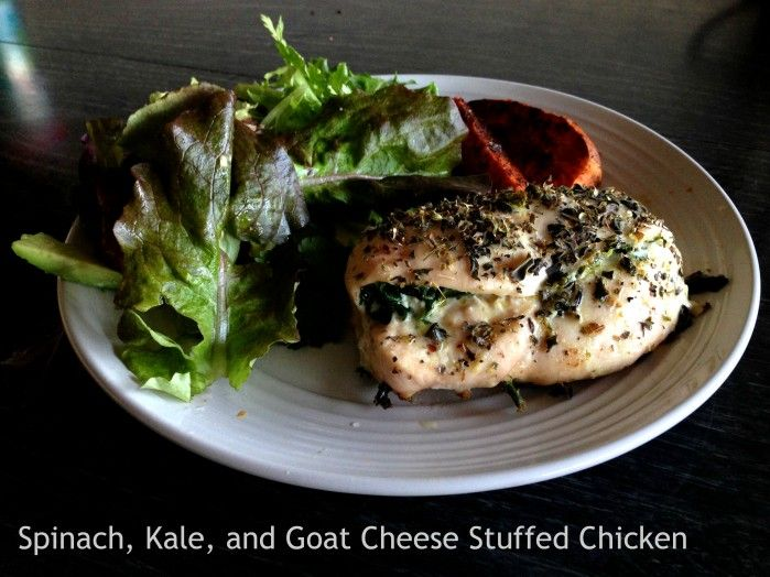 Spinach, Kale and Goat Cheese Stuffed Chicken. Featuring produce from ...