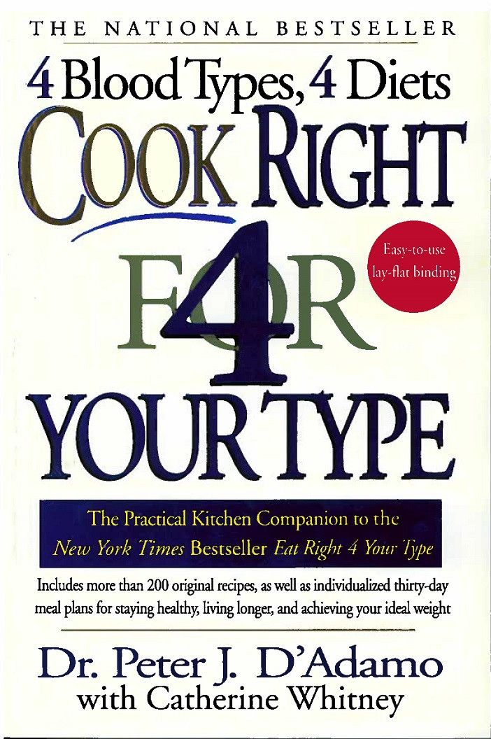 cook right for your blood type pdf