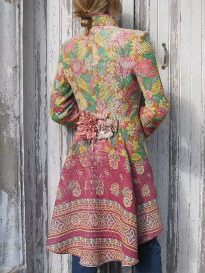 Quilted with Color, Pattern and Added Florals, Wonderful! And, Yes, I LOVE COATS & JACKETS, what of It?