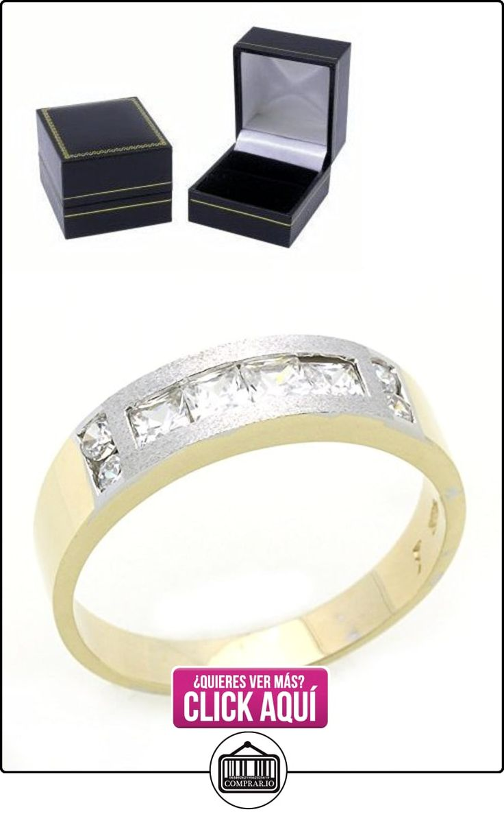 Pequeños Tesoros - Anillo de hombre - Anillo de compromiso y boda de oro 0.5ct Circonita Oro dos tonos  ✿ Joyas para hombres especiales - lujo ✿ ▬► Ver oferta: https://comprar.io/goto/B00BFX9KTS