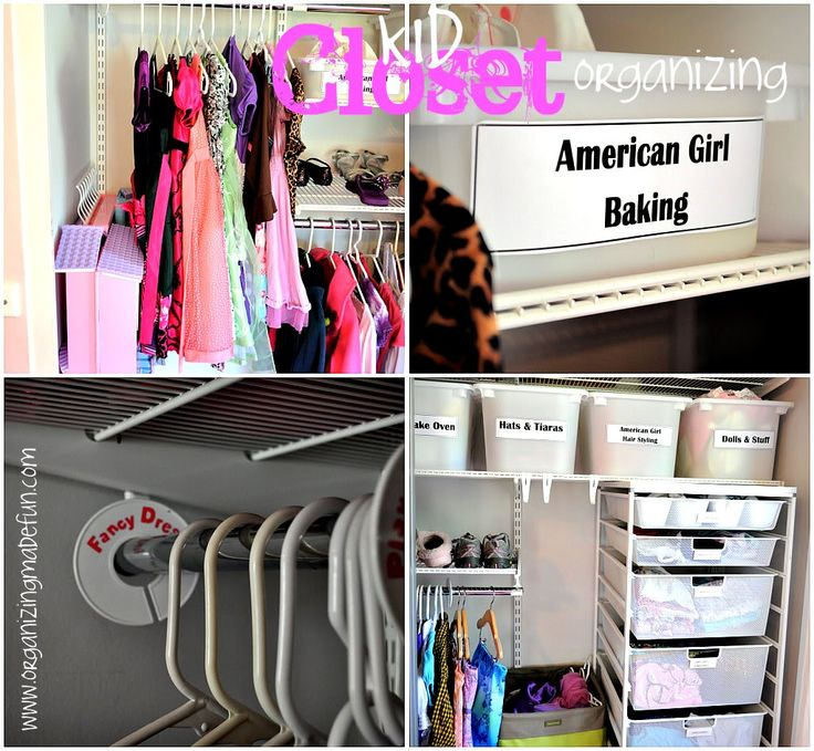 Kids 39 closet ideas and help organizing and cleaning for Organizing ideas for closets