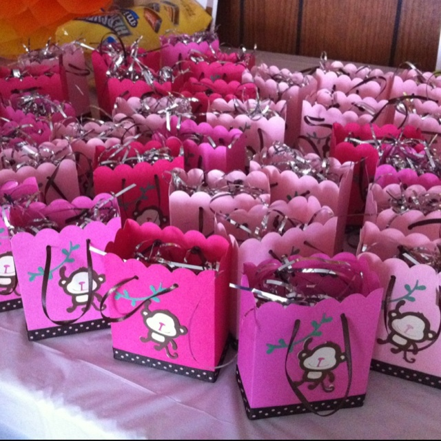 Mey 39 s sister 39 s brown and pink monkey baby shower favors my diy projects pinterest baby - Monkey baby shower favors ideas ...