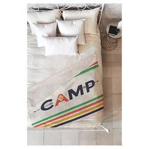"Blue Stripes Zoe Wodarz Bonfire Blanket Sherpa Throw Blanket (50""X60"") Deny Designs : Target"