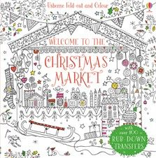 Usborne Fold and Colour - Welcome to the Christmas Market