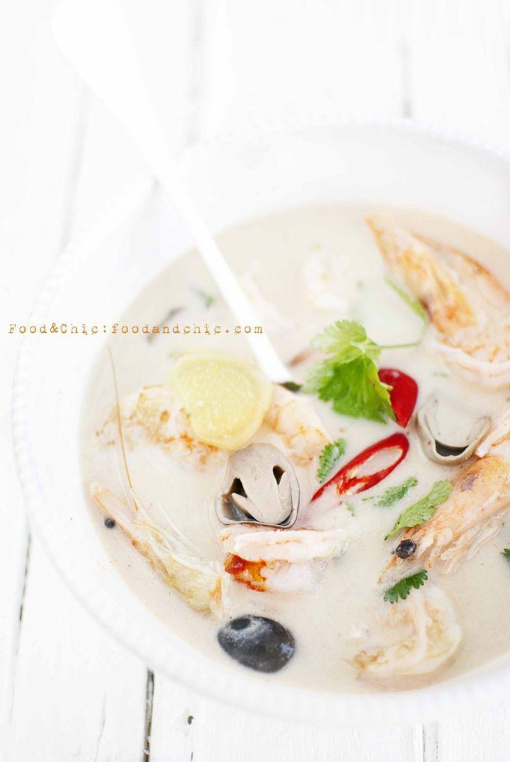 Tom Kha Goong. @Food&Chic