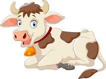 Vaca feliz dos desenhos animados Fotos de Stock Royalty Free
