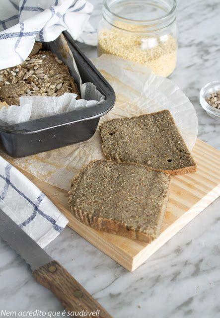 pão de quinoa, baixo em hidratos de carbono e sem glúten