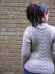 Ravelry: Dr. Watson's Cabled Crew-Neck pattern by Trudi Brown