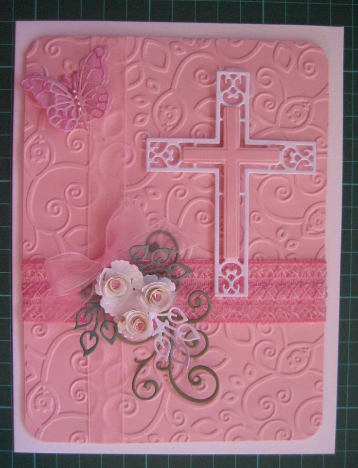 The flowers on this card are the Die-Namic Royal & Mini rolled roses. The main die is Marianne Creatables Cross.