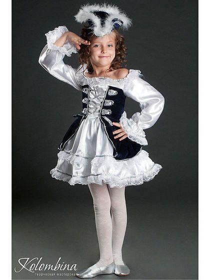 Детские карнавальные костюмы ручной работы. Ярмарка Мастеров - ручная работа. Купить костюм пиратки. Handmade. Белый, фатин