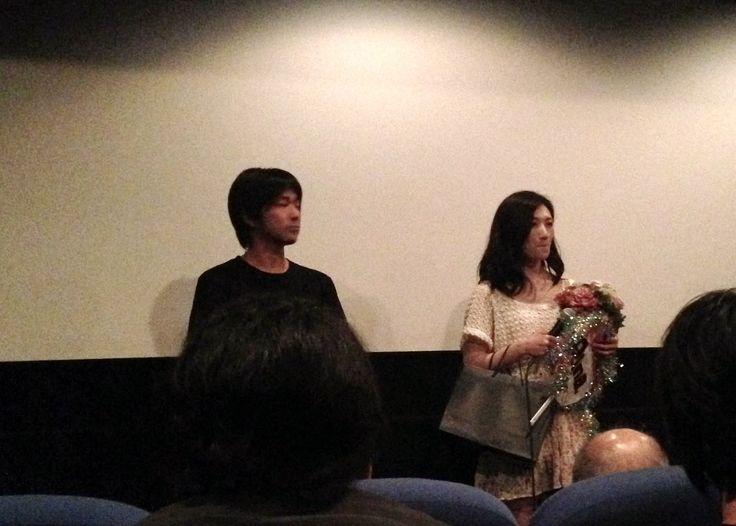 蔦哲一朗監督と武田梨奈さん(主演)の舞台挨拶