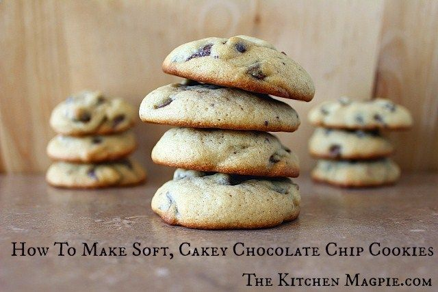 Chocolate Chip Cookie Recipe: How To Make Soft, Cakey Chocolate Chip Cookies! | The Kitchen Magpie : Karlynn Johnston #chocolatechipcookierecipe #cookies #recipes