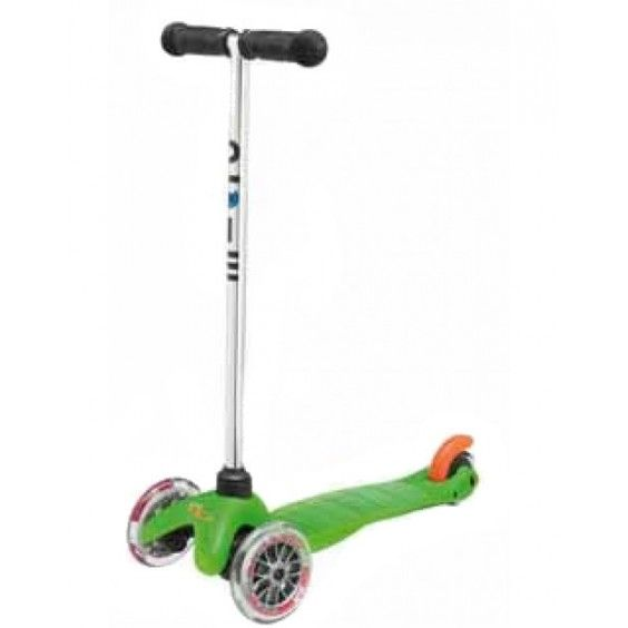 """""""Microscooters - Mini Micro Scooter Green"""" My little boy would be thrilled to have this as his first scooter to enjoy on our walks out and about. His face lit up with excitement and confidence when he gave it a test ride in your store! #Entropywishlist #pintowin"""
