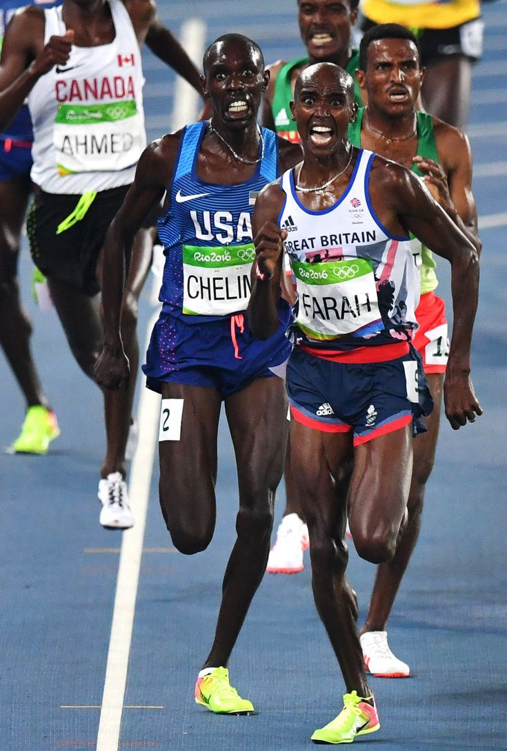 Mo Farah Lands a Double-Double, Winning Gold in 5,000 - The New York Times