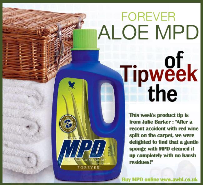 "This week's product tip is from Julie Barker : ""After a recent accident with red wine spilt on the carpet, we were delighted to find that a gentle sponge with MPD cleaned it up completely with no harsh residues!"" www.awhl.co.uk"