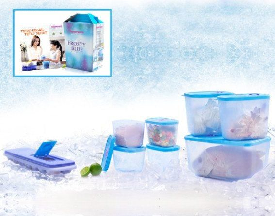 Wadah Penyimpanan Kulkas Frosty Blue Collection + Free Ice Tray