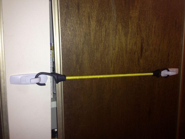 DIY Ghetto child lock for cheap plywood sliding doors