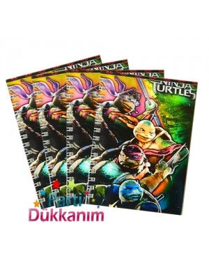 Ninja Turtles Not Defteri 4 Ad (9x13 cm) 50 s
