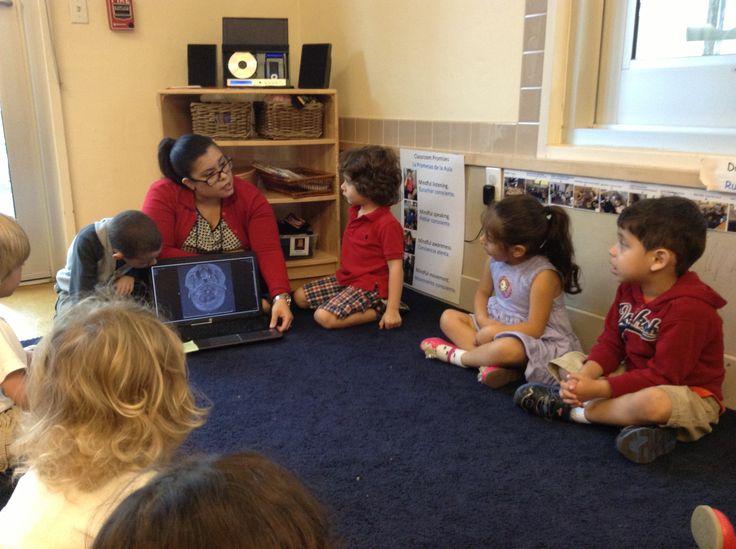 The class welcomed Ms. Karen Aguilar as brain expert