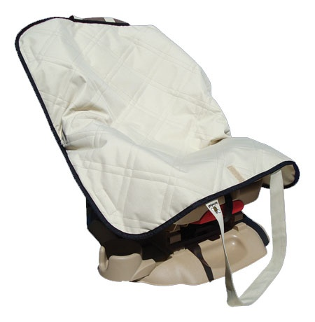 Baby Bee Cool car seat cooler pad. It will keep car seat cool for 10 hours even in desert climates! A must buy this summer!!