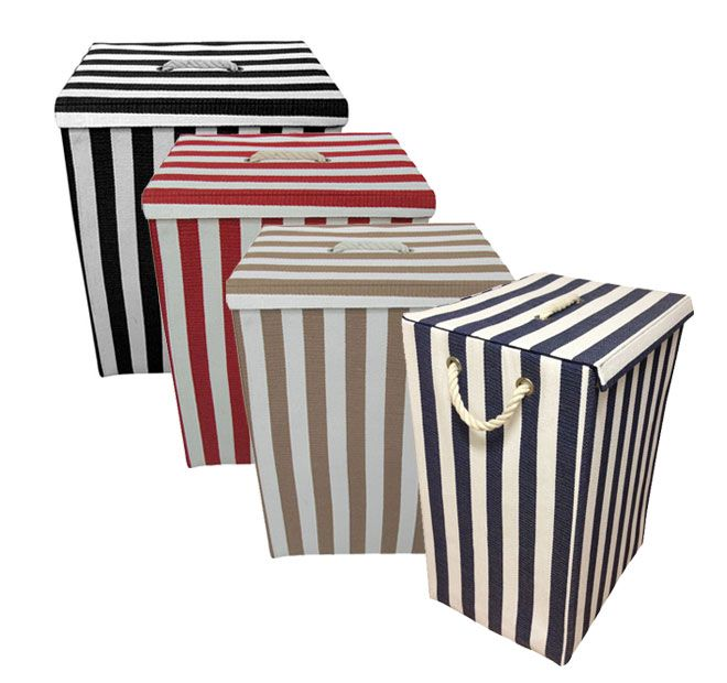 Apartmento Striped Laundry Basket Range