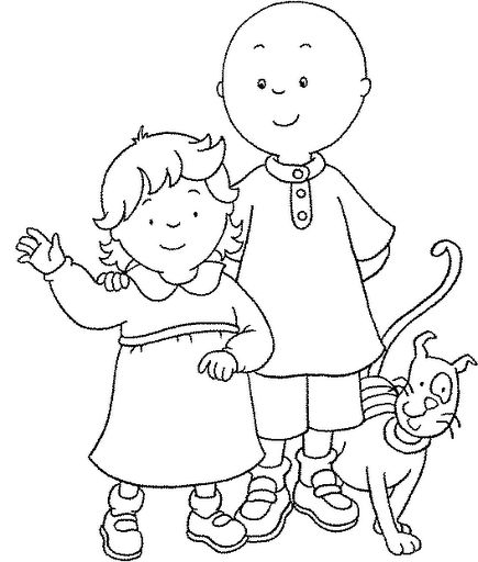 76 best Caillou Coloring Fun! images on Pinterest | Caillou, Day ...