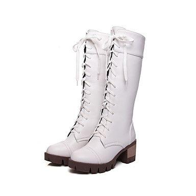 Γυναικεία παπούτσια-Μπότες-Ύπαιθρος / Καθημερινά / Φόρεμα-Πλατφόρμα-Μπότες για Χιόνι-Δερματίνη / PU-Μαύρο / Καφέ / Άσπρο 5227172 2016 – €29.15