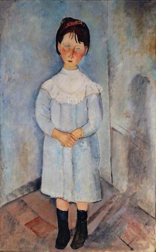 """Amedeo Modigliani   """"Fillette en bleu"""" 1918   Credits : Photo : Pinacothèque de Paris"""