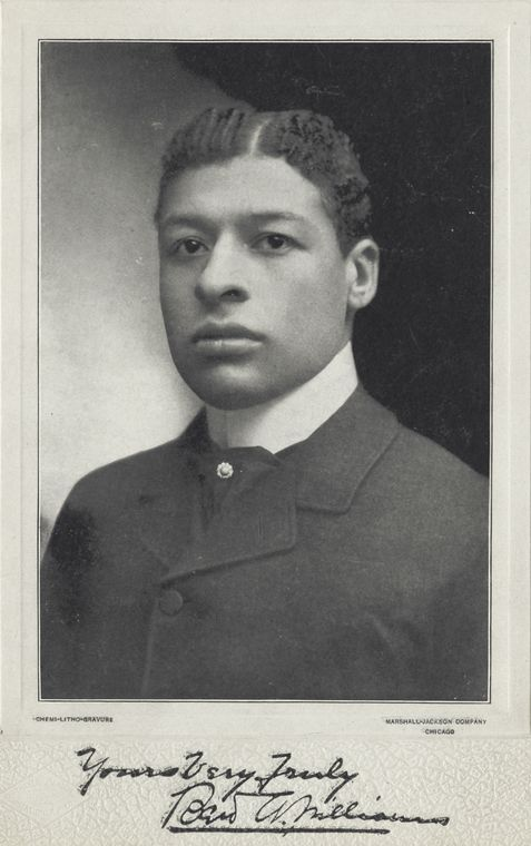 """Bert Williams. You wouldn't know it to look at this picture, but Williams was one of the first, wealthiest and most famous black comedians of his day. Booker T. Washington wrote of Williams: """"He has done more for our race than I have. He has smiled his way into people's hearts; I have been obliged to fight my way."""" And WC Fields said of him, """"the funniest man I ever saw – and the saddest man I ever knew."""""""