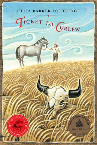 Ticket to Curlew by Celia Barker Lottridge. It is 1915, and Sam Ferrier and his father arrive by train in Curlew, Alberta, to build a new home for the family. When they finally reach their parcel of land, Sam can see nothing but endless stretches of grassland and blue sky. It is nothing like their old home in Iowa, and he wonders why his restless father ever decided to bring the family to this lonely, barren land.