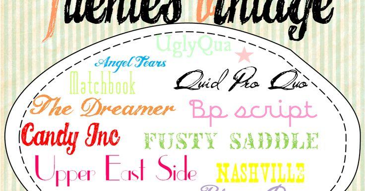 Creative Mindly: Fuentes de Texto Vintage / Vintage typography
