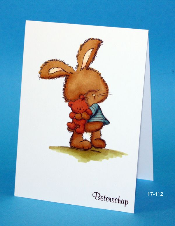 Wild Rose Studio Bunny with teddy and Spectrum Noir coloring